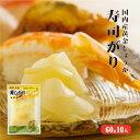 セール【メール便送料無料】国産黄金生姜使用 寿司ガリ 60g×10