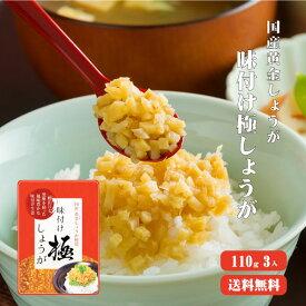 【ゆうパケット送料無料】味付け極しょうが 110g×3 |ふりかけ ご飯のお供 酢しょうが おかず生姜 万能調味料