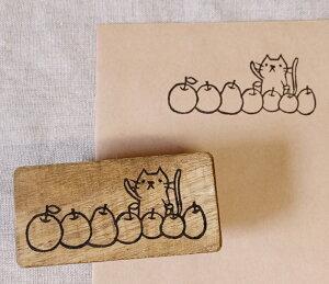 消しゴムはんこ ハンコ けしごむはんこ オリジナル 郵便番号枠 スタンプ 判子 猫 ネコ リンゴ