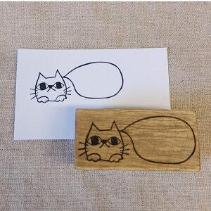 オリジナル スタンプ ハンコ 吹き出し 一言枠 消しゴムはんこ けしごむはんこ 判子 ネコ 猫