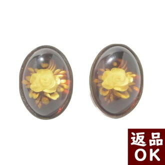 Amber earrings earrings silver intaglio roses roses Roses Flower Plant intaglio red amber natural stone amber power stone