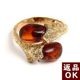 ◆返品OK◆琥珀 リング 指輪 シルバーメッキ コニャック アンバー 6.5号から12号まで サイズ直し不可 バルト産 琥珀屋&kohakuya 初めての琥珀 母の日お薦め