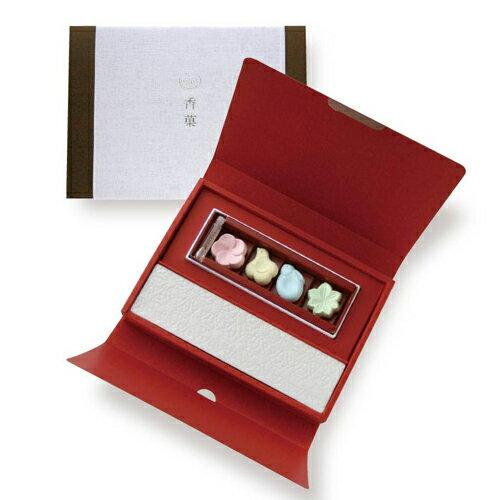 日本香堂の形香香菓−かぐのみ−ギフトアソート4種入&オイル&皿