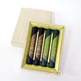 日本香堂のお線香ギフト 毎日白檀香・沈香寿山 二種香揃え 桐箱 4把入