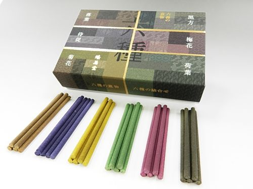【お香】鳩居堂 六種の薫物 6種セット(香立て入り)