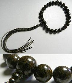 【ポイント最大13倍】 男性用のお数珠 タイガージャスパー 22玉 共仕立て 紐房