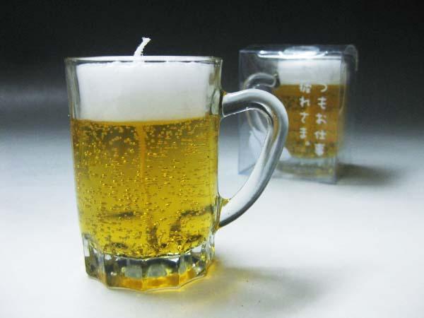 ◇ミニジョッキG ビールキャンドル◇故人の好物シリーズ