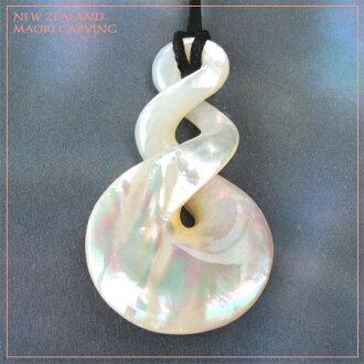 外壳配件母亲的珍珠吊坠毛利人的雕刻新西兰天然材料项链天然项链