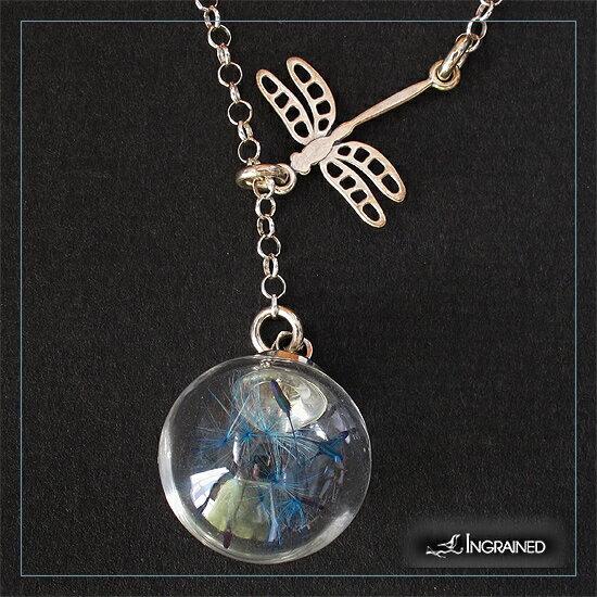ラリエットネックレス ガラスドームニュージーランド シルバーネックレスデザイナーズアクセサリー とんぼ ガラス02P03Dec16