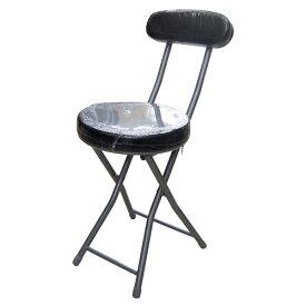 背付きフォールディングチェア ブラック KOF18−0525 パイプイス 折りたたみ ミーティングチェア パイプチェア パイプ椅子 コーナン