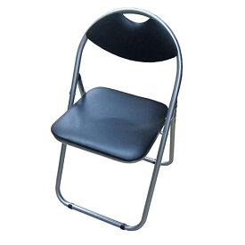 パイプチェアー ブラック/シルバー KKH18−8001 パイプイス 折りたたみ ミーティングチェア パイプチェア パイプ椅子 コーナン