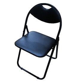 パイプチェアー ブラック/ブラック KKH18−8018 パイプイス 折りたたみ ミーティングチェア パイプチェア パイプ椅子 コーナン