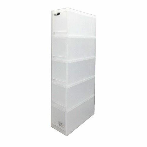 モア ナチュラル スリム5段 KIT18−1169 衣装ケース 衣装ボックス 収納 収納ボックス 衣類収納 押入れ収納ボックス 収納家具 クローゼット プラスチック 収納用品 収納ケース 引き出し コンパクト コーナン