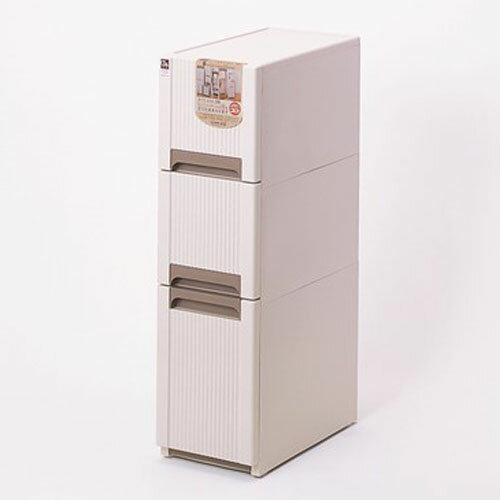 オーラスリム3段 ベージュ タンス たんす 収納 収納用品 押入れ収納 衣類収納 衣装ケース キッチン収納 収納棚 リビング収納 家具 整理棚 おしゃれ 北欧 引き出し プラスチック 【ラッキーシール対応】