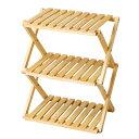 コーナンオリジナル コーナンラック 折り畳み式木製ラック W460(3段) ナチュラル
