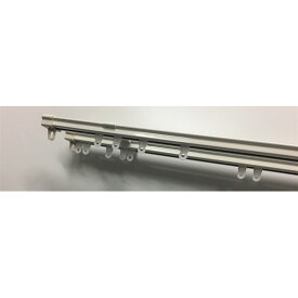 伸縮静音レール ホワイト W2.0 カーテンレール ダブル 伸縮 1.10m 2.00m ホワイト TOSO トーソー 伸縮レール 1m 2m ダブルレール 角型 コーナン 静か しずか