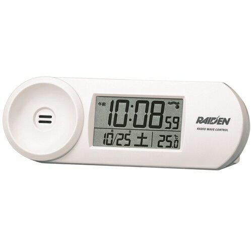 セイコー 電波目覚まし時計 NR532Wホワイト