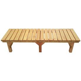 コーナン オリジナル 木製縁台(アクリル樹脂塗装済み)小 約幅1800X奥行580X高さ400mm 静止耐荷重:約300kg ※お客さま組立品小(奥行580)