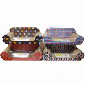 つめみがき ソファー デザイン+KTS12−8855 ×4個セット 猫の爪とぎ 猫の爪研ぎ 猫の爪みがき 猫 爪とぎ 爪みがき 爪研ぎ ダンボール おもちゃ コーナン