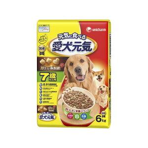 ユニ・チャーム 愛犬元気7歳以上用ささみ・緑黄色野菜・小魚入り6kg【ドッグフード ドライ】