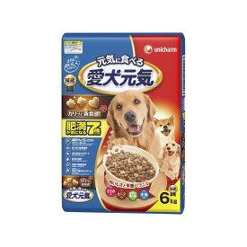 ユニ・チャーム 愛犬元気肥満が気になる7歳以上用ささみ・ビーフ・緑黄色野菜・小魚入り6kg【ドッグフード ドライ】