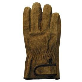 ユニワールド A級牛床革 内綿オイルブラウンマジック革手袋 Lサイズ KS847 [洗えるソフトオイル加工]L