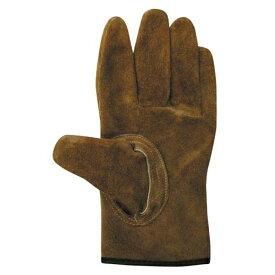 ユニワールド A級牛床革 内綿オイルブラウンマジック革手袋 Mサイズ KS847 [洗えるソフトオイル加工]M