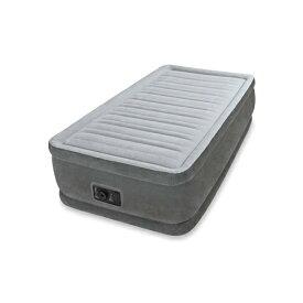 INTEX(インテックス)エアーベッド ツインコンフォート シングルサイズ 電動エアーポンプ付き グレー64411 (日本正規品)99×191×46cm