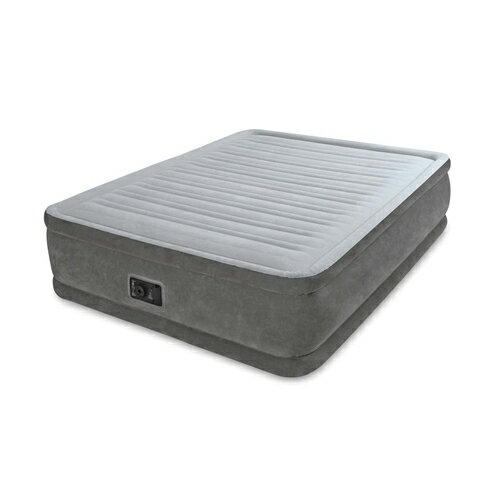 INTEX(インテックス)エアーベッド クイーンコンフォート ワイドダブルサイズ 電動エアーポンプ付き グレー64413 (日本正規品)152×203×46cm 【ラッキーシール対応】