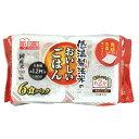 【在庫限りの売り尽くし】アイリスフーズ 低温製法米のおいしいごはん 国産米100% 180g×6P 角型6個パック