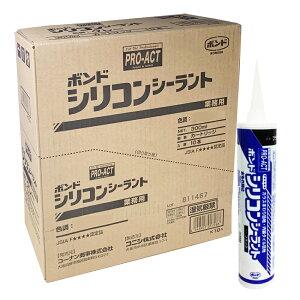 コーナン オリジナル PROACT(プロアクト) コニシ シリコンシーラント ブラック 300ml 【シリコーンシーラント シリコンコーク】 ×10本セット