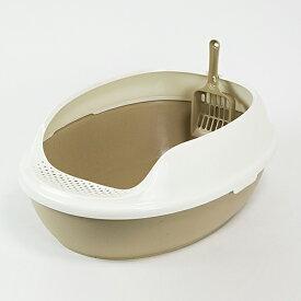 キャットトイレ オーバルBR 猫 トイレ 本体 ネコトイレ 猫用トイレ キャットトイレ しつけ 猫砂 コーナン
