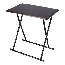 折りたたみ フォールディングテーブル テーブル 折り畳みテーブル デスク おしゃれ かわいい ダークブラウン/ブラック コーナン
