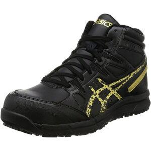 ≪あす楽対応≫asics(アシックス) 安全靴 ウィンジョブCP105 ブラック×ゴールド 25.0cm