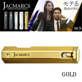 ジャックマルクス リフィラブル パフューム アトマイザー ヘキサゴナルシェイプ ゴールド 3.7ml メンズ 香水入れ