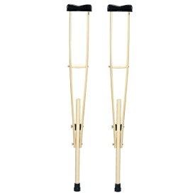 松葉杖 (木製) MY-1129 中サイズ 2本1組*非課税 松葉づえ 商品全長100〜125cm【05P05Dec15】