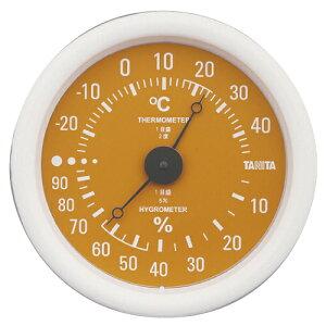 タニタ 温湿度計 オレンジ TT-515 直径13cm 小さい コンパクト 測定 体調管理 施設 シンプル 見やすい 壁掛け※お取り寄せ品【05P05Dec15】