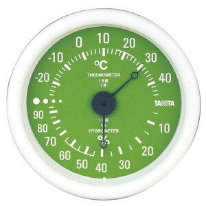 タニタ 温湿度計 グリーン TT-515 直径13cm 小さい コンパクト 測定 体調管理 施設 シンプル 見やすい 壁掛け※お取り寄せ品【05P05Dec15】