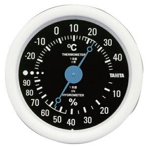 タニタ 温湿度計 ブラック TT-515 直径13cm 小さい コンパクト 測定 体調管理 施設 シンプル 見やすい 壁掛け※お取り寄せ品【05P05Dec15】