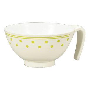 持ち手付 らくらく飯椀 介護用食器 お茶碗 安定感 かわいい シンプル【05P05Dec15】