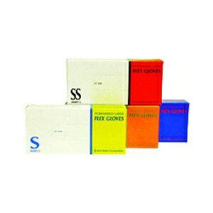 S2ファーストレイト:ラテックス(天然ゴム)フレックスグローブ(パウダー付)Sサイズ1箱(100枚入) 粉付 使い捨て 手袋 FR-941