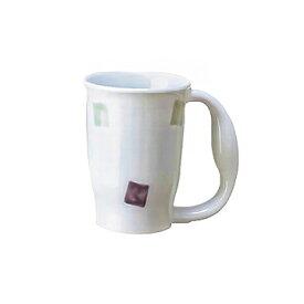 有田焼 ほのぼのマグカップ 電子レンジ可 持ちやすいコップ 大きなグリップ 嚥下訓練【05P05Dec15】