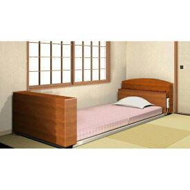 スーパー低床介護ベッド「床ピタ」KJ-006型(キャスター取り付け可能タイプ)ベッド本体のみ*非課税◎メーカー直送