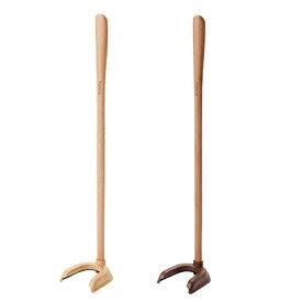 【靴の着脱に】ファミカ・シューヘルパー 竹虎 タケトラ 靴べら(くつベラ)ナチュラルウッド ダークウッド 膝痛 長尺 自立 おしゃれ
