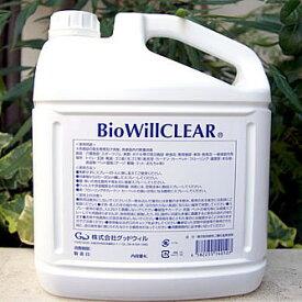 バイオウィル クリア 詰替え用エコボトル 除菌・消臭 4L ノロウィルス対策 犬用品/猫用品/ペットグッズ/ペット用品 送料無料