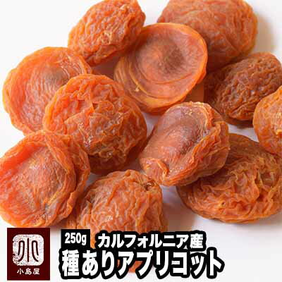 カルフォルニア産 種有りあんず(アプリコット) 《250g》種周りの甘みの濃い所を味わえます♪杏の品揃えは日本一を誇る専門店です。砂糖不使用 ドライアプリコット ドライあんず 種付アプリコット あんず ドライフルーツ