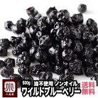 ノンオイル ワイルドブルーベリー(野生種) 《500g》油不使用だから、味がクリアーで上品一…