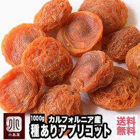 【宅急便送料無料】 カルフォルニア産 種有りあんず(アプリコット) 《1kg》種周りの甘みの濃い所を味わえます♪杏の品揃えは日本一を誇る専門店です。砂糖不使用 ドライアプリコット ドライあんず 種付アプリコット あんず ドライフルーツ