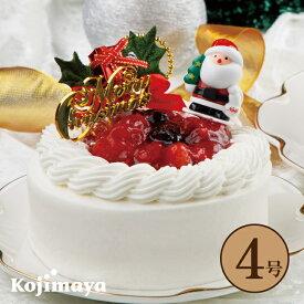 【クリスマス 苺と木の実のショートケーキ 4号 (直径12cm)】 いちごのショートケーキ 送料無料 予約 贈り物 プレゼント クリスマス 2020 christmas x'mas クリスマスケーキ 小島屋乳業製菓 新宿kojimaya