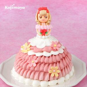 【ドールケーキ ピンキーローサちゃん 4号(直径12cm)】ドール ドレスケーキ プリンセスケーキ レアチーズ ケーキ お姫様 送料無料 誕生日ケーキ バースデーケーキ お土産 贈